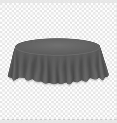 round tablecloth on table vector image