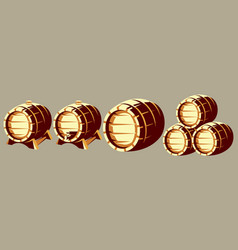 set color templates with barrels for storing vector image
