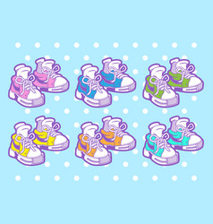 sneakers cute shoes vector image