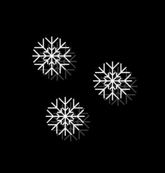 snowfall icon flat vector image