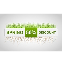 Spring Sale Discount Banner Template vector image
