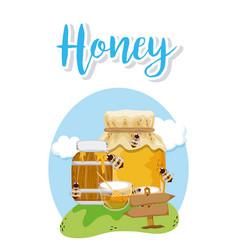 sweet honey card vector image