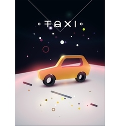 Taxi typographic modern poster with taxi cab vector