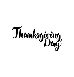 Thanksgiving Day Handwritten Calligraphy vector