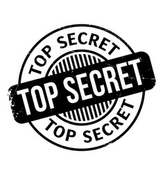 top secret rubber stamp vector image