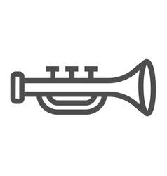 trumpet line icon musical and instrument vector image