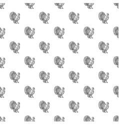 turkey cock pattern seamless vector image