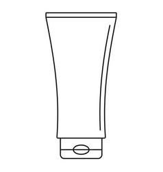 Uv tube cream icon outline style vector