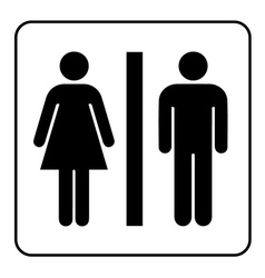 Wc black sign vector