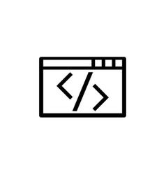 web programming application editing digital code vector image
