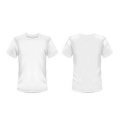 white t-shirt 3d blank sportswear model mockup vector image