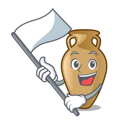 with flag amphora mascot cartoon style vector image