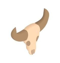 Buffalo skull isometric 3d icon vector
