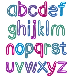 colorful lower case brush alphabet vector image vector image
