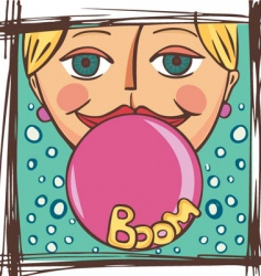 gum to inflate vector image vector image