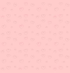 hand drawn pink hearts backdrop seamless pattern vector image vector image