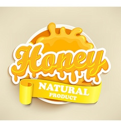 Honey natural label splash vector image vector image