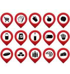 Set of the pointer supermarket vector image vector image
