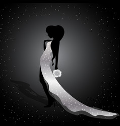 Beautiful silhouette of a girl vector