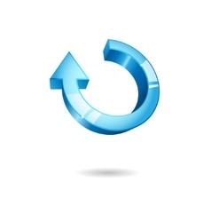 Blue round arrow vector image vector image