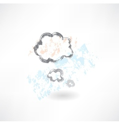 Cloud think grunge icon vector image vector image