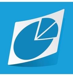 Diagram sticker vector image vector image