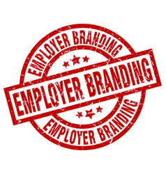 employer branding round red grunge stamp vector image vector image