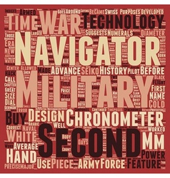 Military Watches text background wordcloud concept vector image vector image