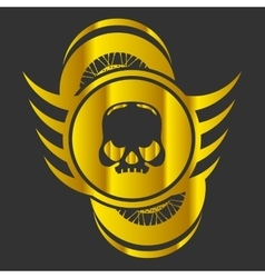 Moto Skull Logo Symbol vector image