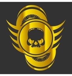 Moto Skull Logo Symbol vector image vector image