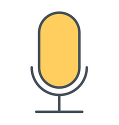 old microphone thin line icon pictogram vector image vector image