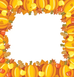 pumpkin apple frame vector image vector image