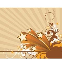 retro floral graphic vector image vector image