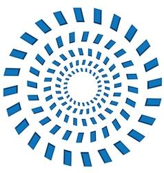 Rotating circles vector image