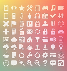64 Universal Flat Icon Set for web desighers ui vector image