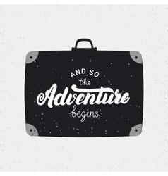 And so the adventure begins card vector image vector image