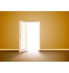 opened wood door vector image