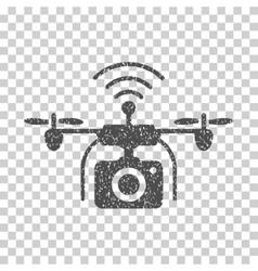 Radio camera drone grainy texture icon vector