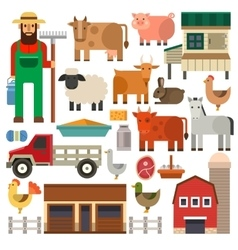 Farm icons set vector image vector image