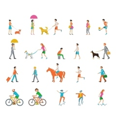 People on the street vector image