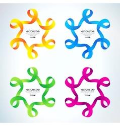 set Ribbon stars vector image