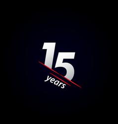 15 years anniversary celebration black and white vector
