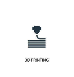 3d printing icon simple element vector