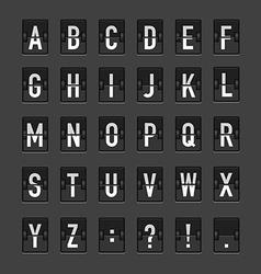 AbstractBlackRetroAlphabet02 vector