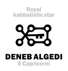 Astrology deneb algedi the royal behenian vector