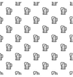 beer mug pattern seamless vector image