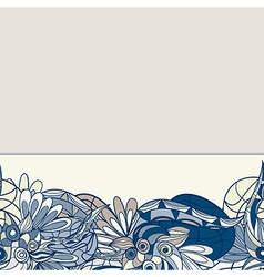 border with abstract hand-drawn pattern vector image