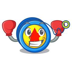 boxing yoyo character cartoon style vector image