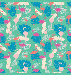 Bright tropical summer seamless pattern with vector