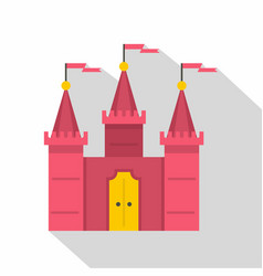Castle icon flat style vector